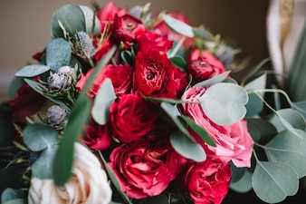 花屋の魅力的な会場の詳細装飾