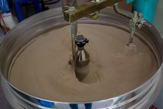 小麦粉が作られている