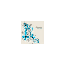 Flower blue design free for download