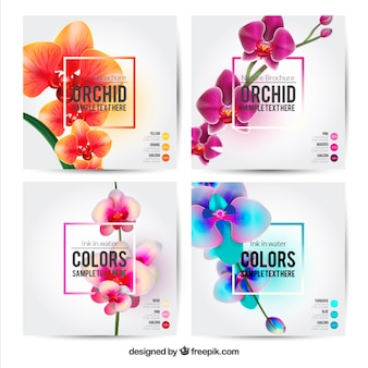 Flower brochures template