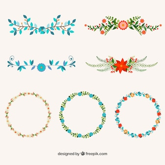 Flower design elements
