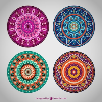 Flower mandala ornaments