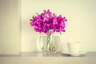 Flower pot and a coffee cup