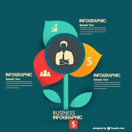 Flower shape infographic business template