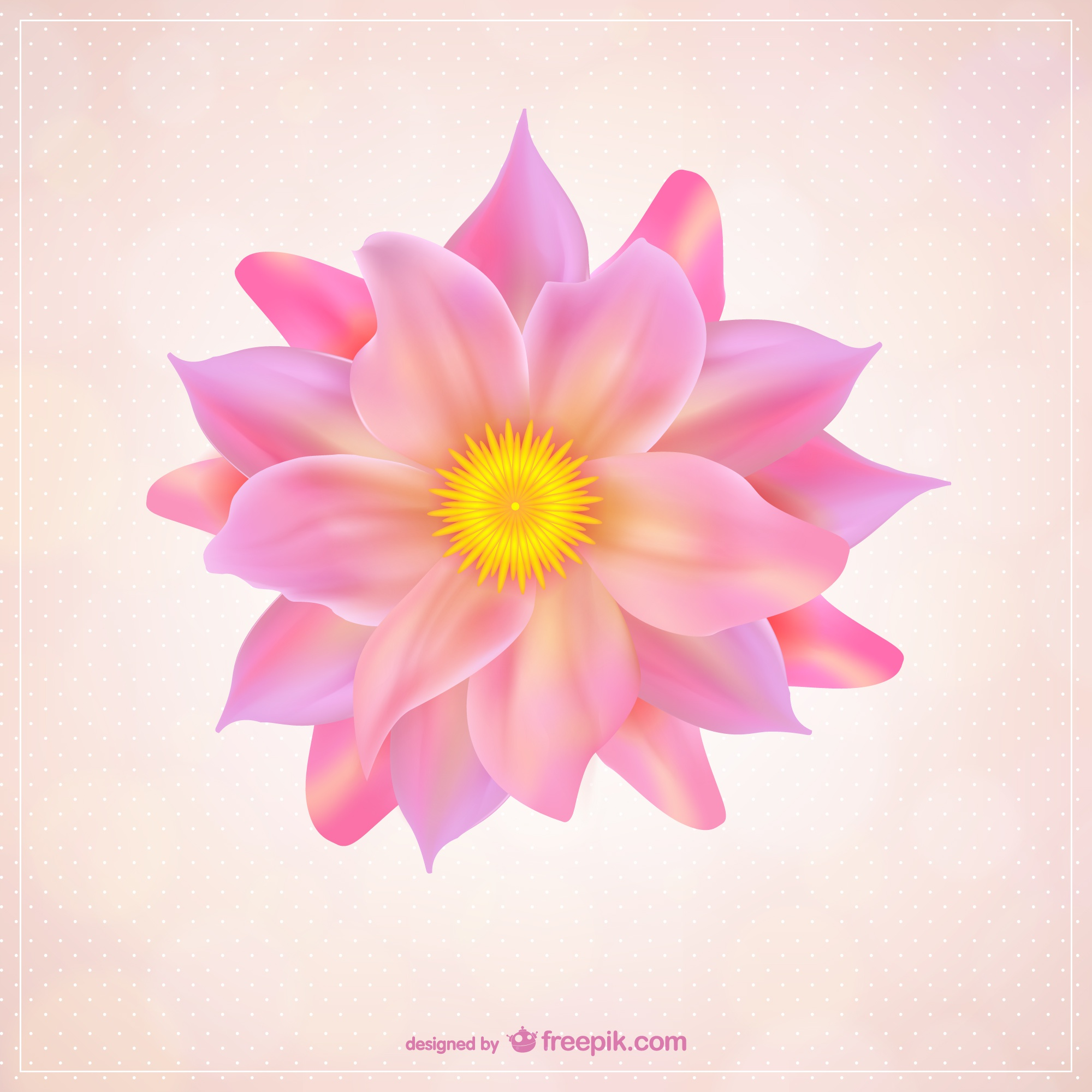 Flower with pink petals free vector