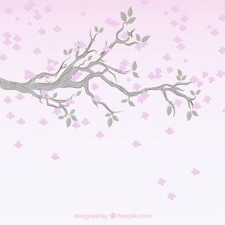 Flowering branch background
