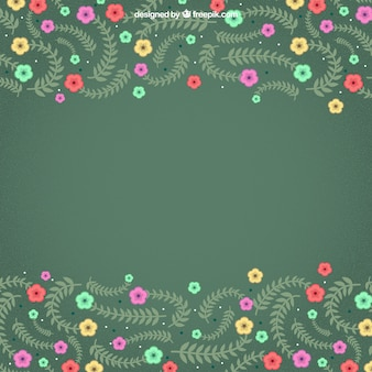 Flowering branches background