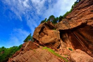 Flowerpot rocks   hdr  image  boulder