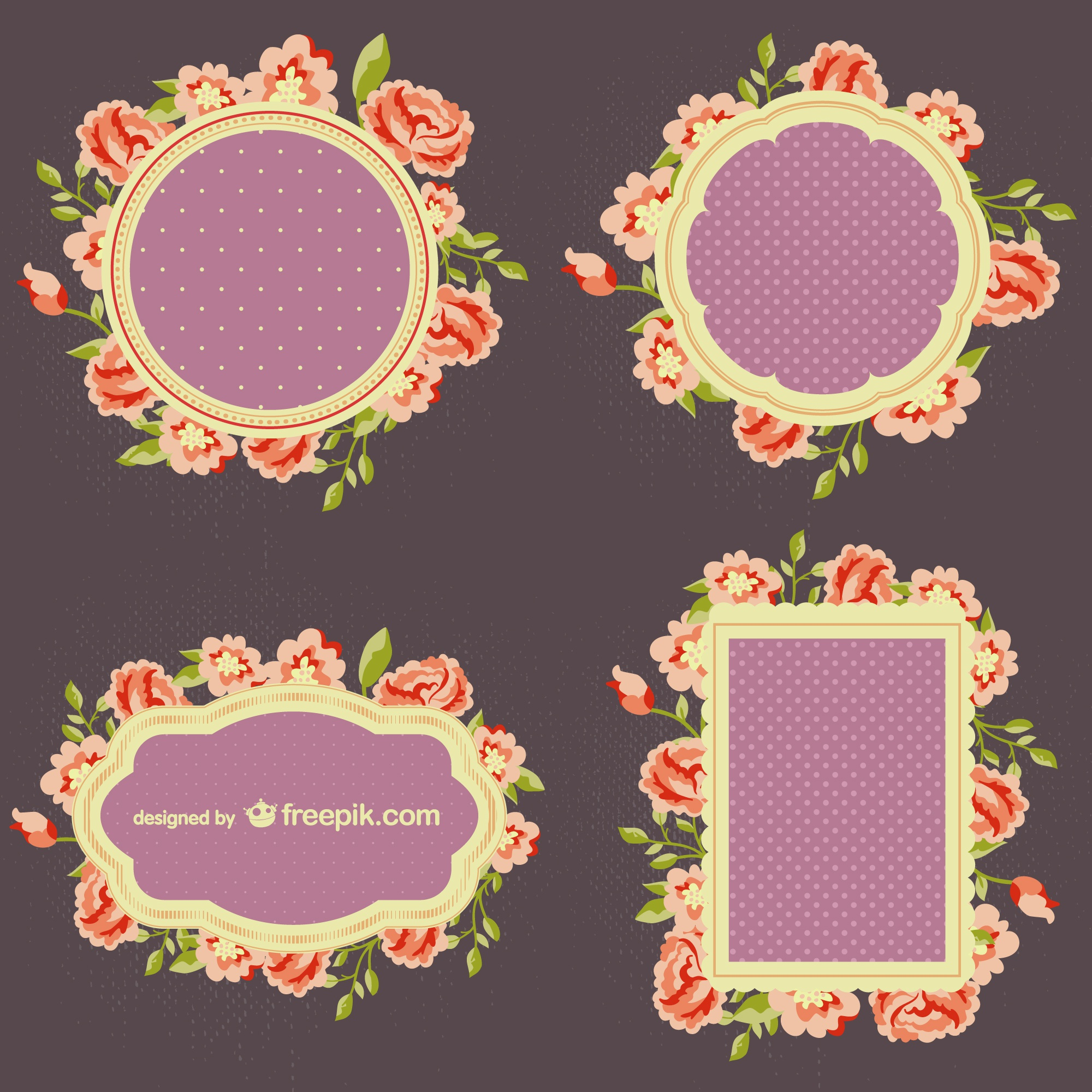 Flowers frame set