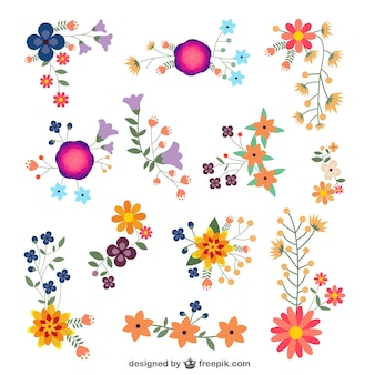 Flowers vector design elements