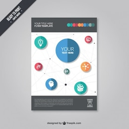 Flyer template with icons
