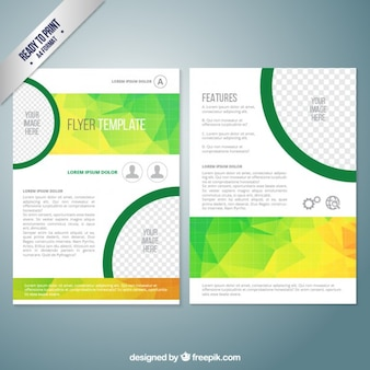 Flyer template with polygons