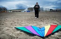 flying kite