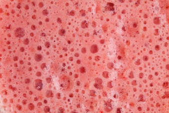 Foam strawberry milkshake