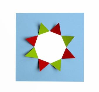 Folded cardboard forming star figure