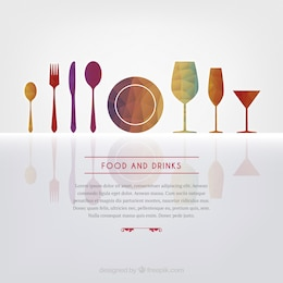 Food and drinks background