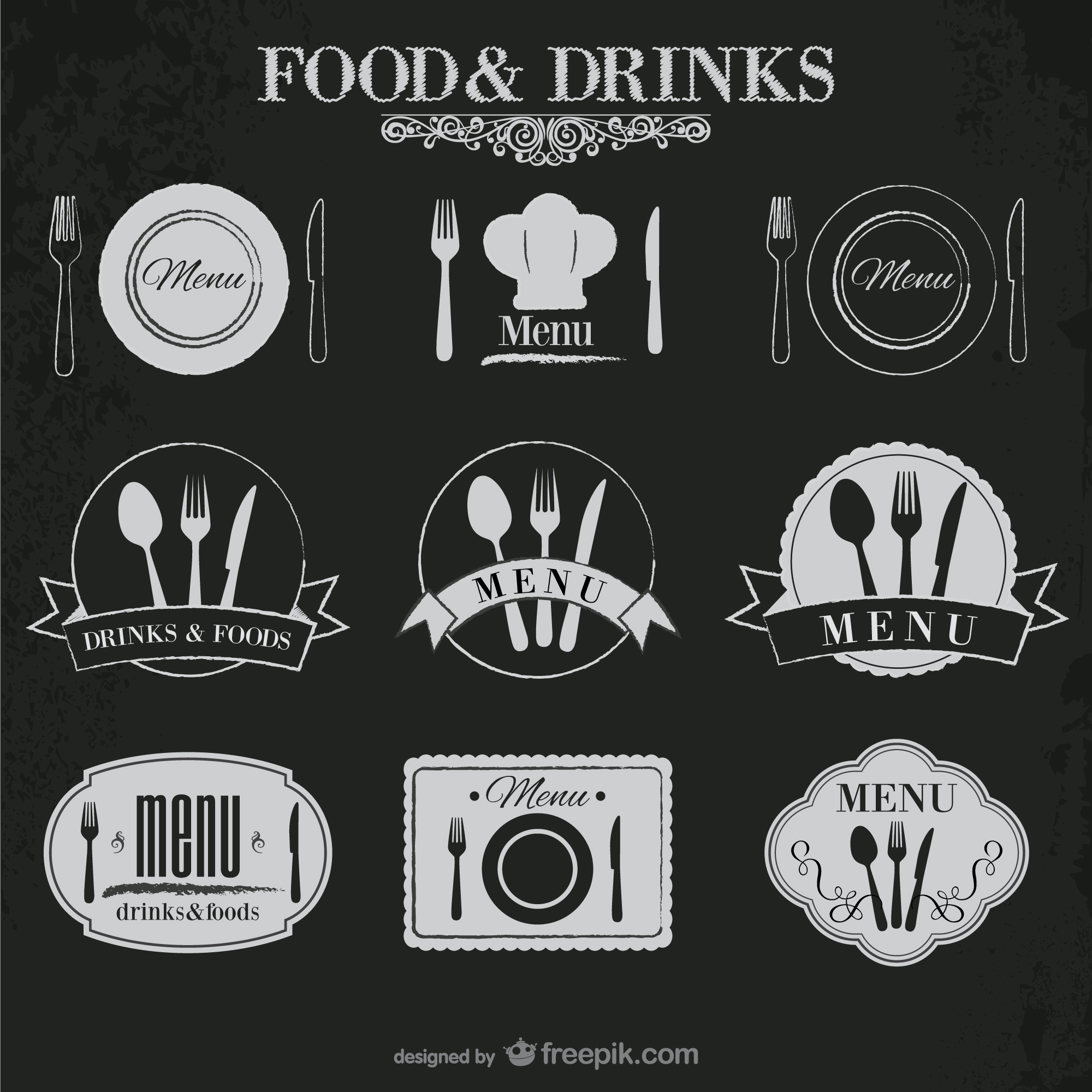 Food and drinks stickers