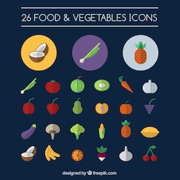 Food and vegetables icons
