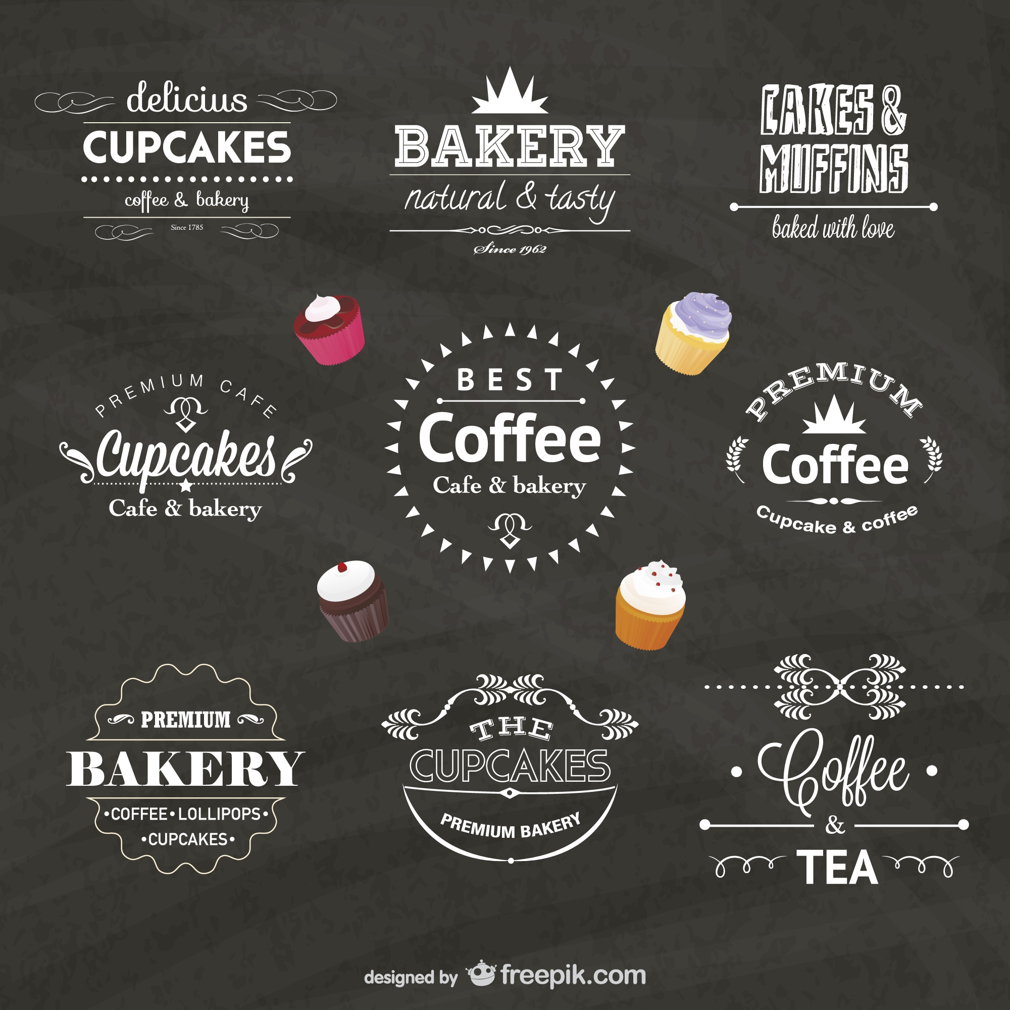 Food business vector badges
