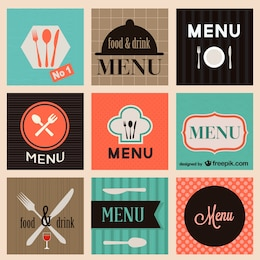 Food menu vector set