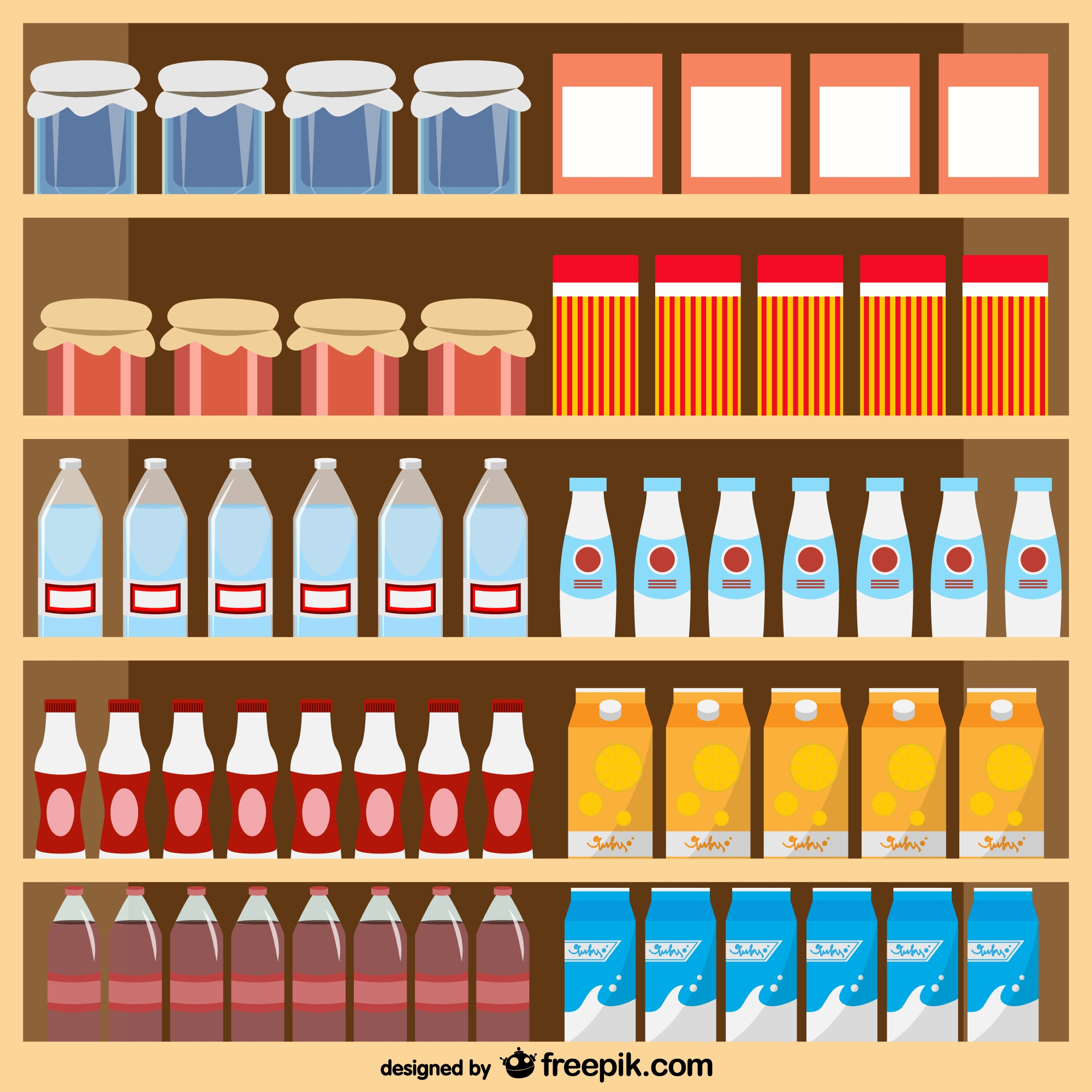 Food products supermarket vector