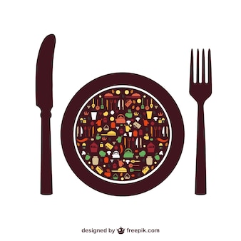 Food vector elements free menu