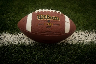 Football ball in detail
