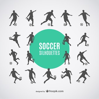 Football players silhouettes free dowbload