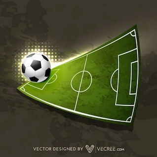 Football playground and ball