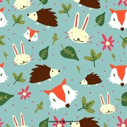 Forest animals editable pattern