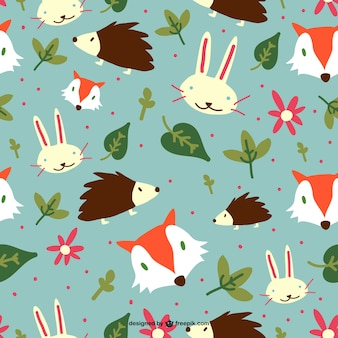 Forest animals editable pattern