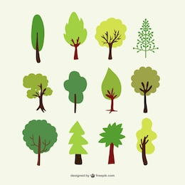 Forest trees vector set