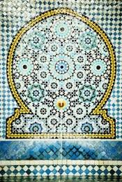 fountain of tiles