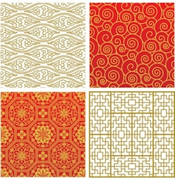 four asian patterns