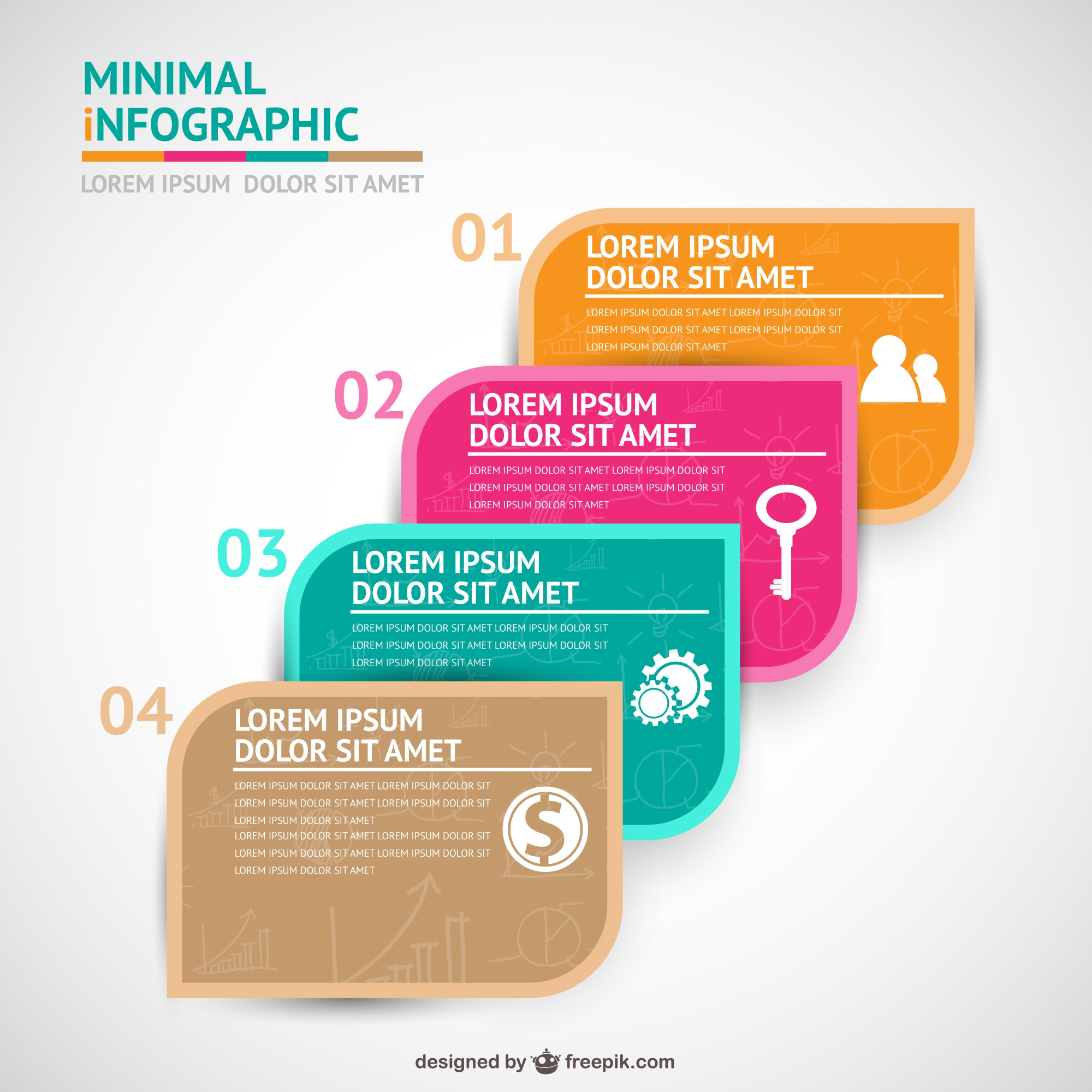 Four steps infographics template