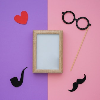 Frame and other elements for father's day
