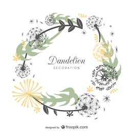 Frame design with dandelions