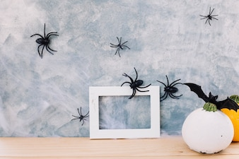 Frame in Halloween decor