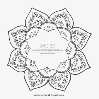 Frame in mandala style