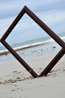 Frame in the sand