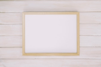 Frame on wooden surface