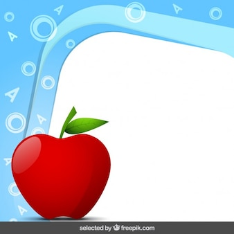 Frame with apple