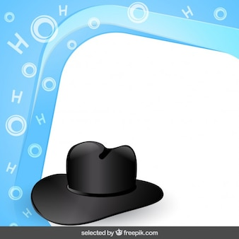 Frame with hat