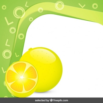 Frame with lemons