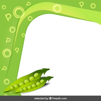 Frame with peas