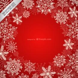 Frame with white snowflakes