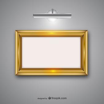 Frame wth lamp