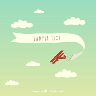Free airplane banner vector art