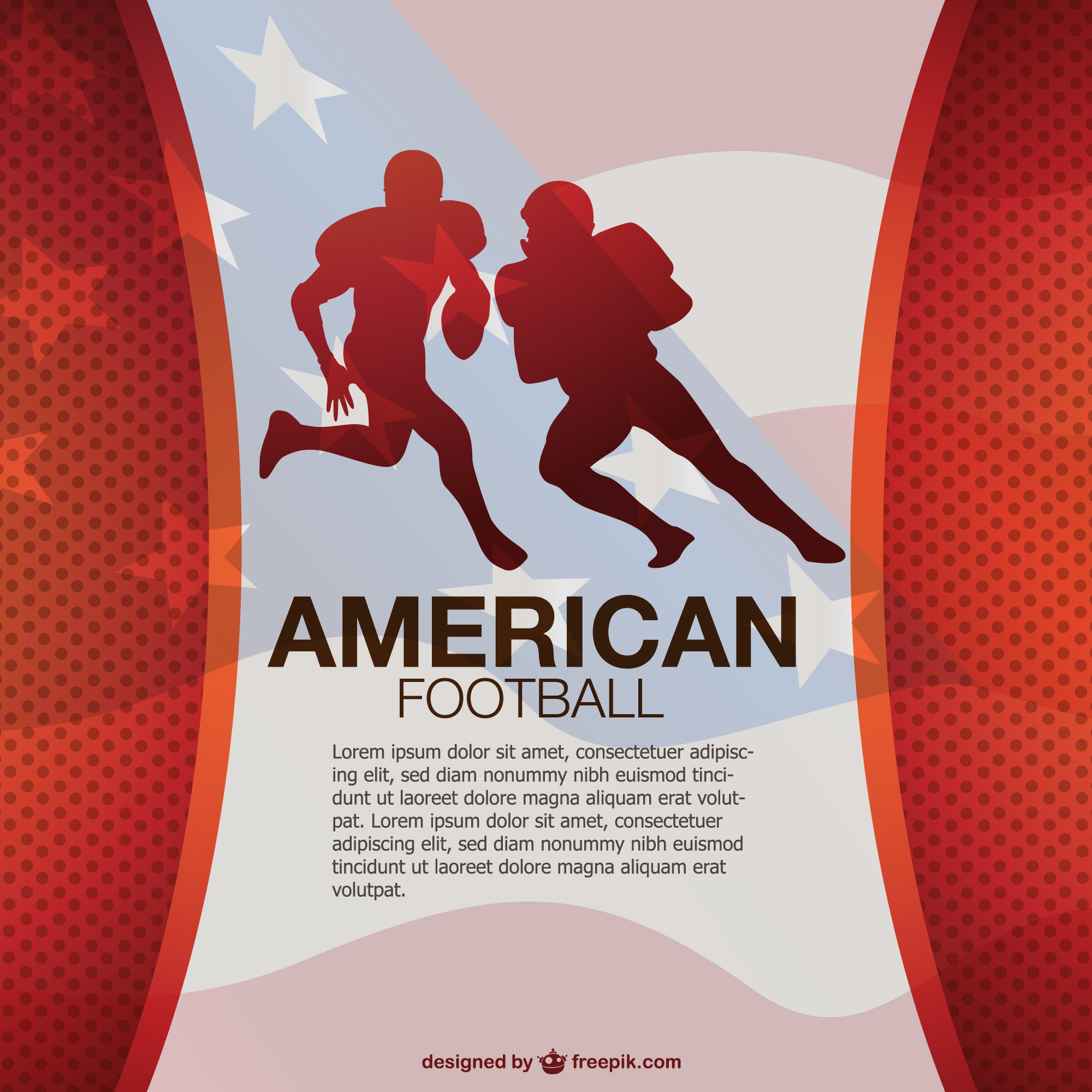 Free American football vector design