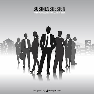 Free business people silhouettes vector